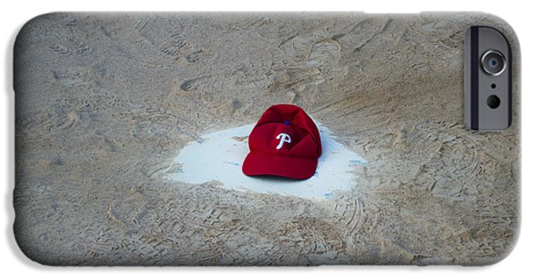 Baseball. Philadelphia Phillies iPhone Cases - Phillies Home Plate iPhone Case by Bill Cannon