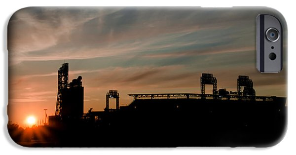 Baseball. Philadelphia Phillies iPhone Cases - Phillies Stadium at Dawn iPhone Case by Bill Cannon