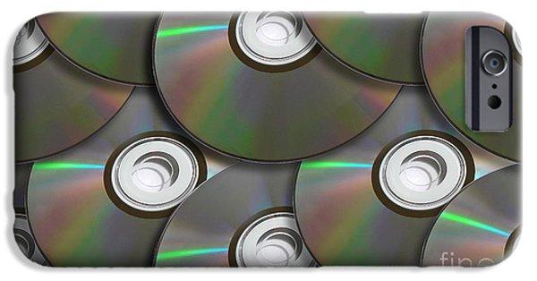 Disc iPhone Cases - Pile Of Discs iPhone Case by Ryan Jorgensen
