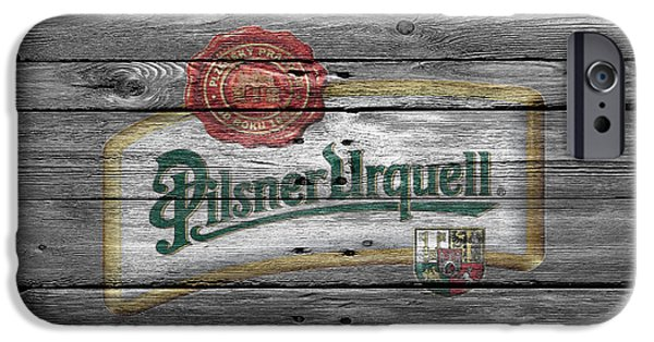 Crate iPhone Cases - Pilsner Urquell iPhone Case by Joe Hamilton