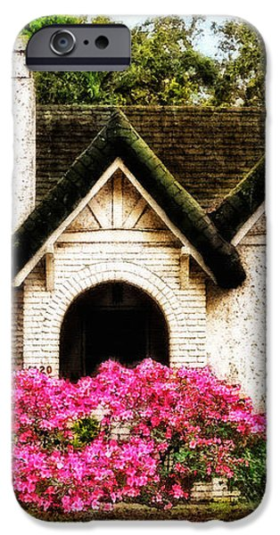 Pink Azaleas - Old Southern Charm By Sharon Cummings iPhone Case by Sharon Cummings