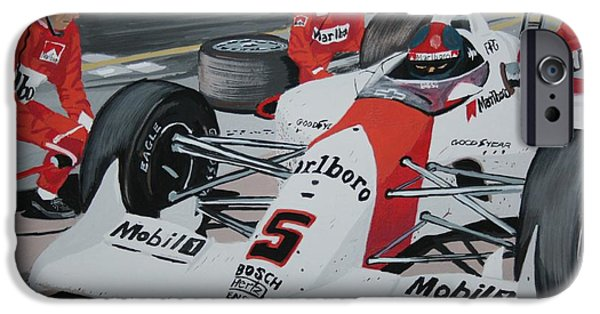 Indy Car iPhone Cases - Pit Stop iPhone Case by Stacy C Bottoms