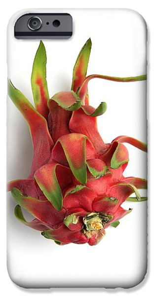 Cut-outs iPhone Cases - Pitahaya Fruit iPhone Case by Victor de Schwanberg