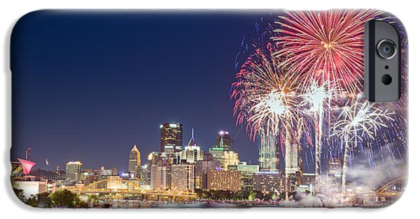 4th July Photographs iPhone Cases - Pittsburgh the 4th  iPhone Case by Emmanuel Panagiotakis