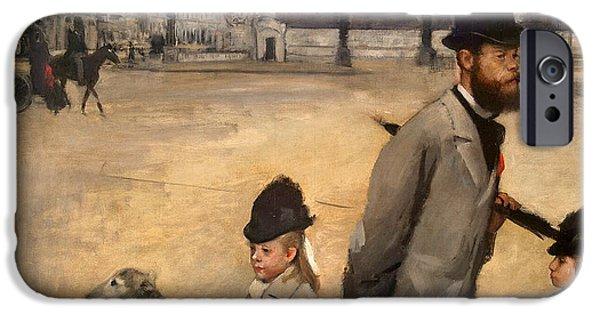 Place iPhone Cases - Place de la Concorde iPhone Case by Edgar Degas