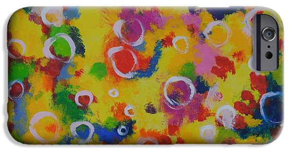 Little Girl iPhone Cases - Playing with soap iPhone Case by Chani Demuijlder
