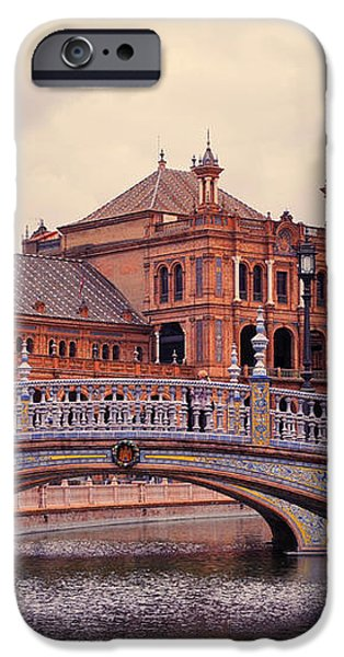Plaza de Espana. Seville iPhone Case by Jenny Rainbow