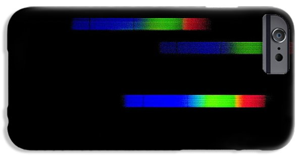 Absorb iPhone Cases - Pleiades Emission Spectra iPhone Case by Dr Juerg Alean