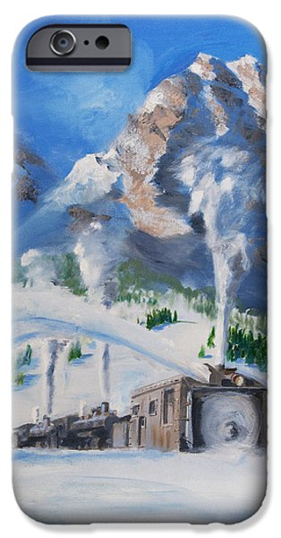 Snow Scene iPhone Cases - Plowing Home iPhone Case by Christopher Jenkins
