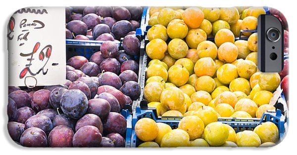 Local Food iPhone Cases - Plums iPhone Case by Tom Gowanlock