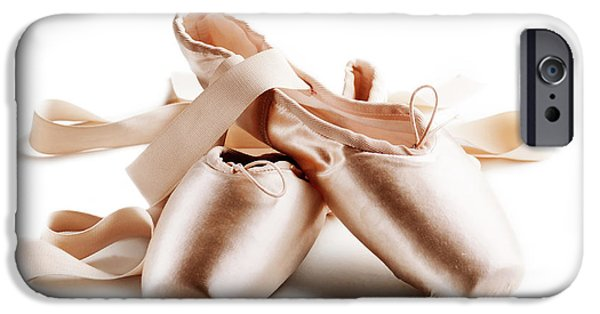 Dirty iPhone Cases - Pointe shoes iPhone Case by Jelena Jovanovic