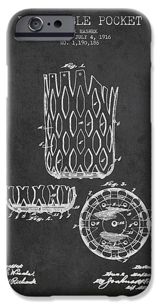 Poll Table Pocket Patent Drawing From 1916 iPhone Case by Aged Pixel