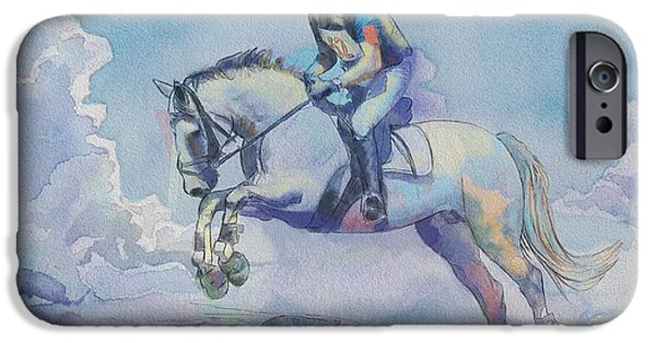 Canadian Culture Paintings iPhone Cases - Polo Art iPhone Case by Catf