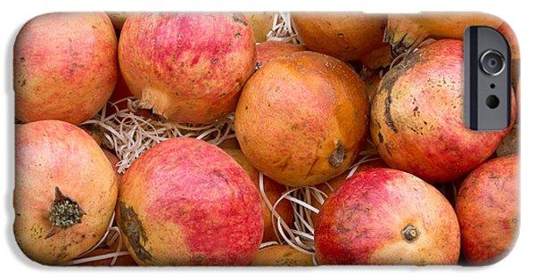 Abundance iPhone Cases - Pomegranates iPhone Case by Tom Gowanlock