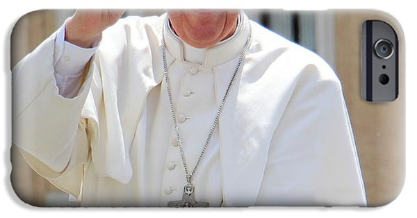 Papa iPhone Cases - Pope Francis iPhone Case by Diane  Greco-Lesser