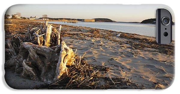 Maine Seacoast iPhone Cases - Popham Beach State Park - Phippsburg Maine USA iPhone Case by Erin Paul Donovan