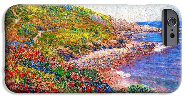 Beach Landscape iPhone Cases - Enchanted by Poppies iPhone Case by Jane Small
