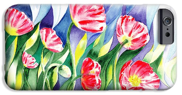 Celebration Paintings iPhone Cases - Poppy Field iPhone Case by Irina Sztukowski