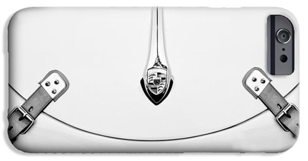 Cars iPhone Cases - Porsche 1600 Hood Emblem iPhone Case by Jill Reger