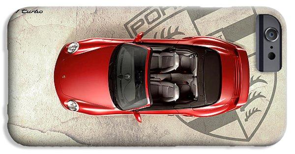 Turbo iPhone Cases - Porsche 911 Turbo iPhone Case by Mark Rogan