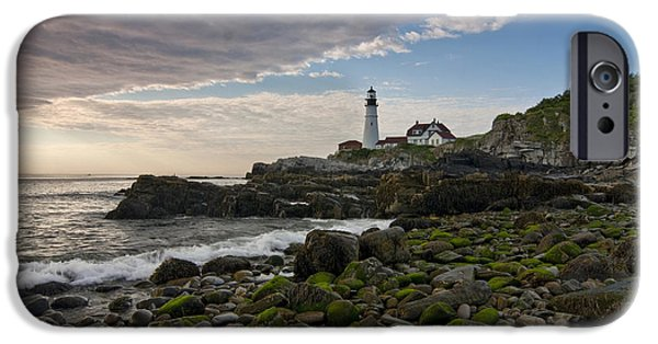 Recently Sold -  - Maine iPhone Cases - Portland Head Light iPhone Case by Van Slider