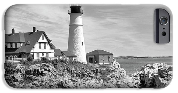 Maine iPhone Cases - Portland Head Lighthouse iPhone Case by Mike McGlothlen