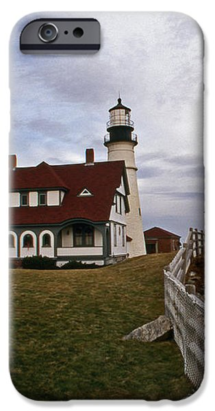PORTLAND HEAD LIGHTHOUSE iPhone Case by Skip Willits