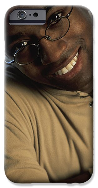 Mid Adult iPhone Cases - Portrait Of A Man iPhone Case by Darren Greenwood