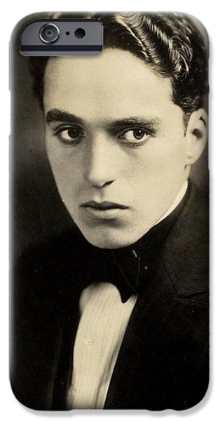 Celebrities Photographs iPhone Cases - Portrait of Charlie Chaplin iPhone Case by American Photographer