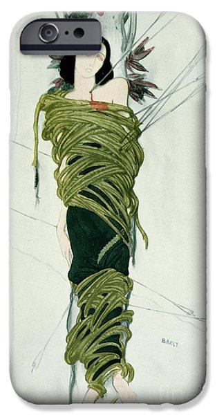 Martyr iPhone Cases - Portrait of Ida Lvovna Rubinstein iPhone Case by Leon Bakst
