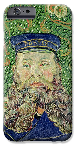 Arles iPhone Cases - Portrait of the Postman Joseph Roulin iPhone Case by Vincent Van Gogh