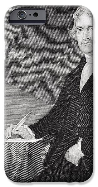 Portrait of Thomas Jefferson iPhone Case by Alonzo Chappel
