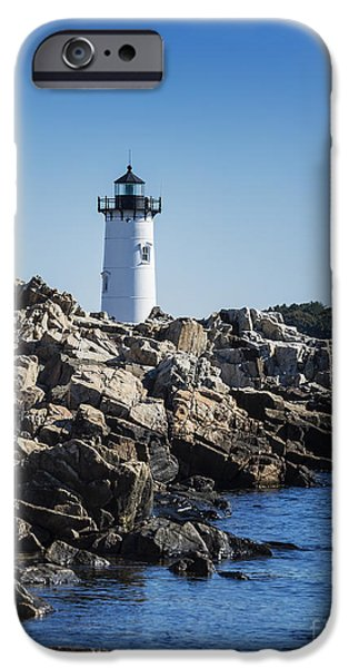 Constitution iPhone Cases - Portsmouth Harbor Light iPhone Case by John Greim