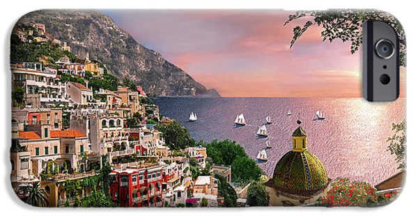 Sailing iPhone Cases - Positano iPhone Case by Dominic Davison