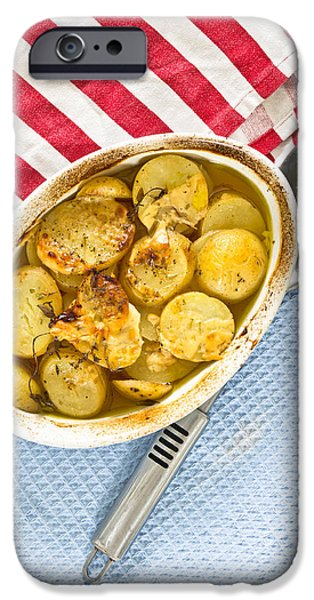 Stainless Steel iPhone Cases - Potato dish iPhone Case by Tom Gowanlock