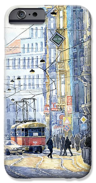 Prague Vodickova str  iPhone Case by Yuriy  Shevchuk