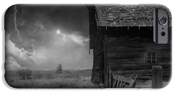 Prairie Landscape iPhone Cases - Prairie Storm iPhone Case by Mountain Dreams
