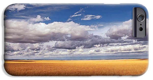 Prairie iPhone Cases - Prairie Wyoming U S A iPhone Case by Don Spenner
