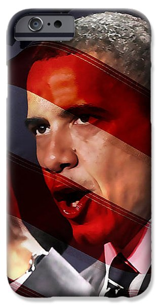 President Barack Obama iPhone Case by Marvin Blaine