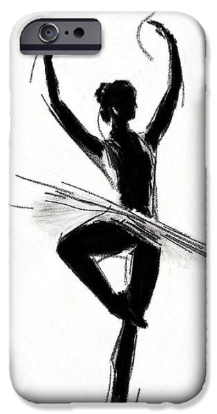Ballet Drawings iPhone Cases - Prima Donna iPhone Case by Stefan Kuhn