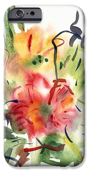 Primroses iPhone Cases - Primroses iPhone Case by Claudia Hutchins-Puechavy