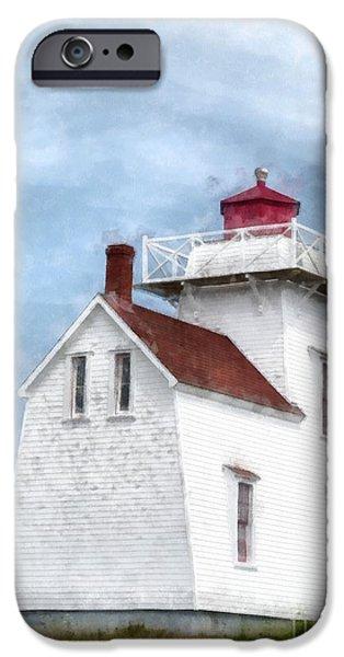 Lighthouse iPhone Cases - Prince Edward Island Lighthouse iPhone Case by Edward Fielding