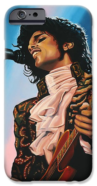 Celebrities Art iPhone Cases - Prince iPhone Case by Paul  Meijering