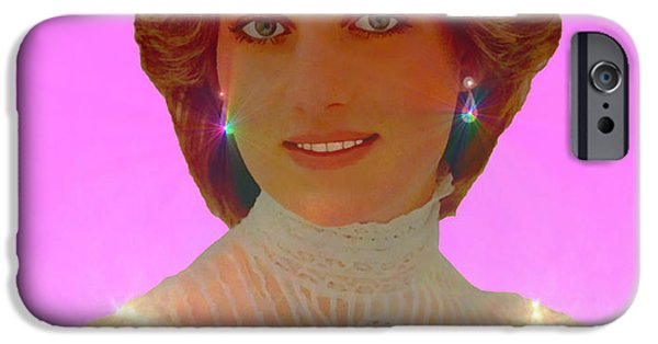 Baroness iPhone Cases - Princess Diana iPhone Case by Michael Rucker