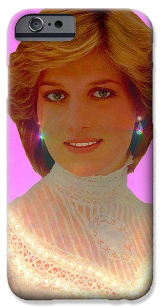 Princess Diana iPhone Case by Michael Rucker