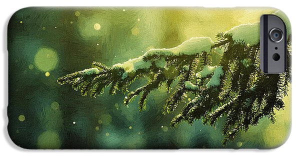 Christmas Greeting iPhone Cases - Print New Year iPhone Case by Victor Gladkiy