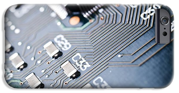 Components iPhone Cases - Printed Circuit Board Components iPhone Case by Arno Massee