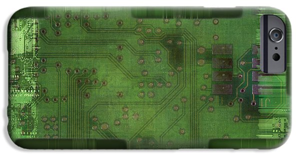 Component iPhone Cases - Printed Circuit - Motherboard iPhone Case by Michal Boubin