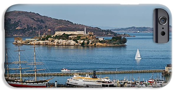 Punishment iPhone Cases - Prison On An Island, Alcatraz Island iPhone Case by Panoramic Images