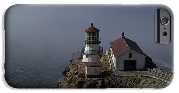Bill Gallagher Photographs iPhone Cases - Pt Reyes Lighthouse iPhone Case by Bill Gallagher